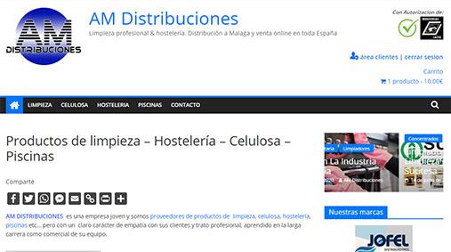 web AM Distribuciones Malaga