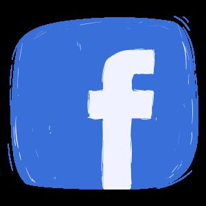 Logo Facebook a Mano