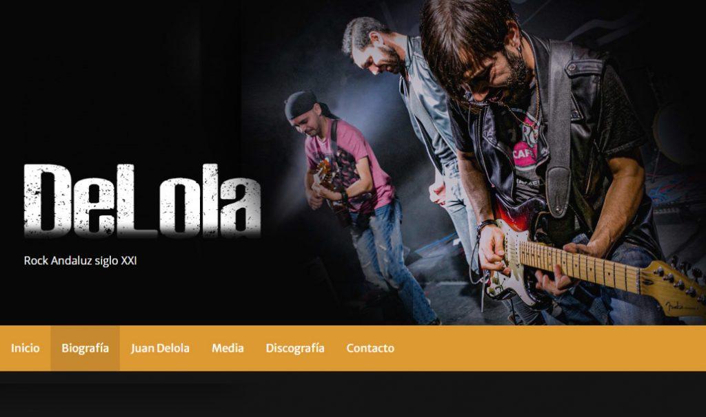 Diseño web de Delola Rock