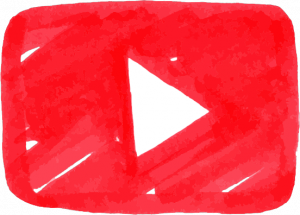 Logo Youtube a mano
